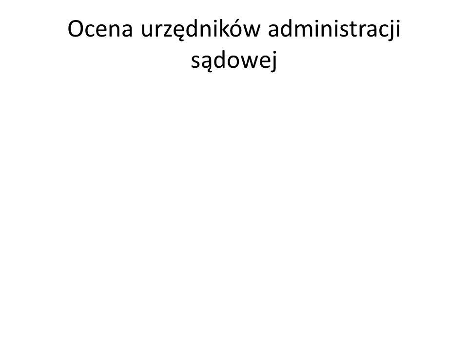 Ocena urzędników administracji sądowej