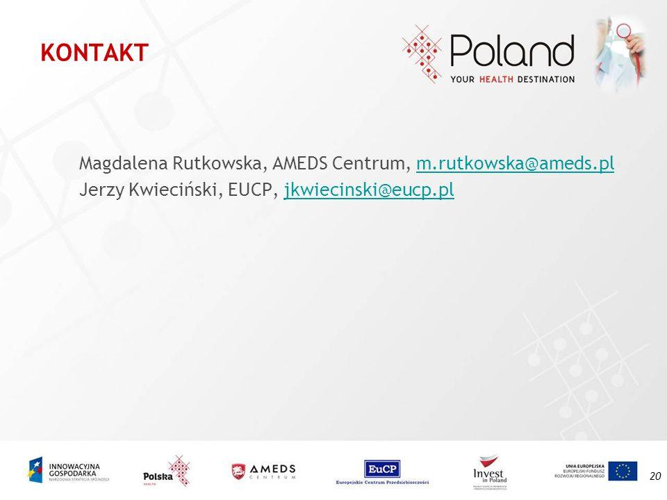 KONTAKT Magdalena Rutkowska, AMEDS Centrum, m.rutkowska@ameds.pl