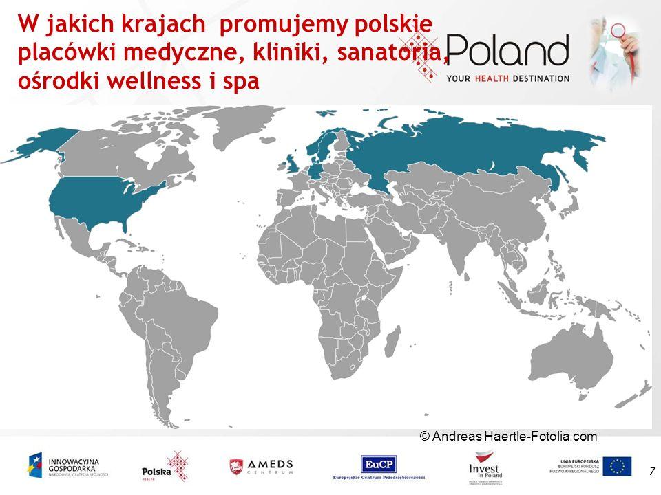 W jakich krajach promujemy polskie placówki medyczne, kliniki, sanatoria, ośrodki wellness i spa