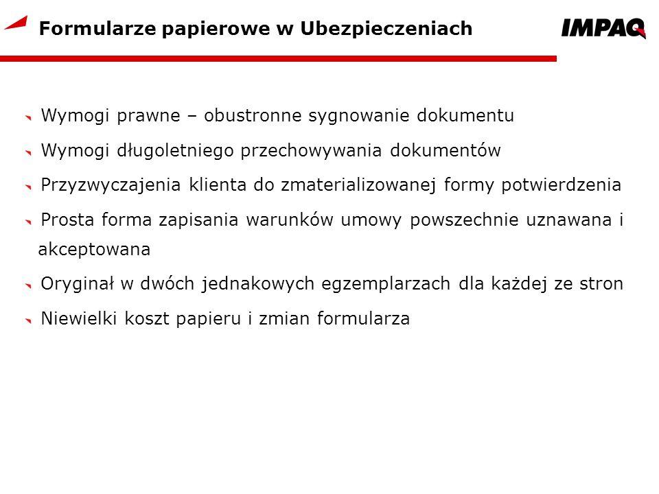 Formularze papierowe w Ubezpieczeniach