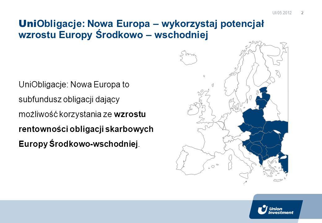 UI/05.2012 UniObligacje: Nowa Europa – wykorzystaj potencjał wzrostu Europy Środkowo – wschodniej.