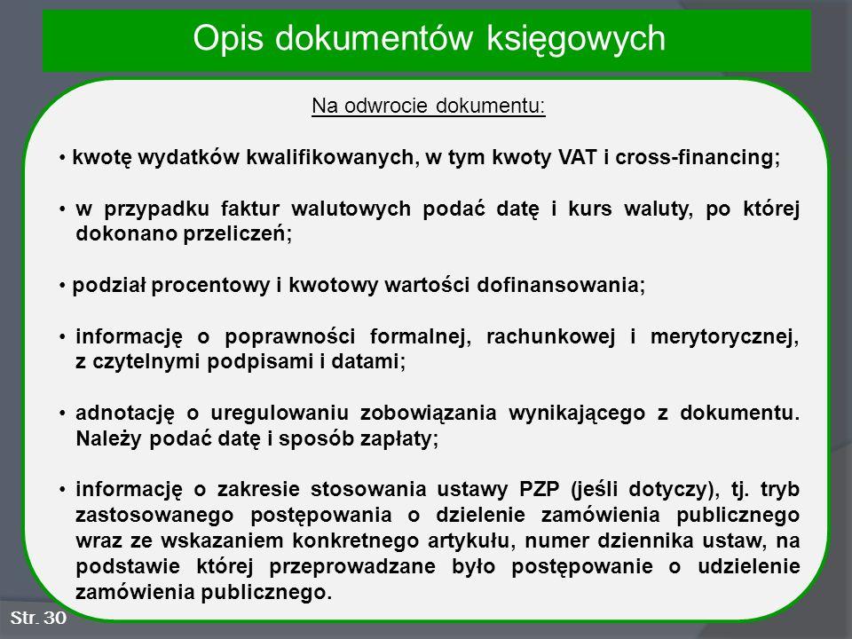 Opis dokumentów księgowych