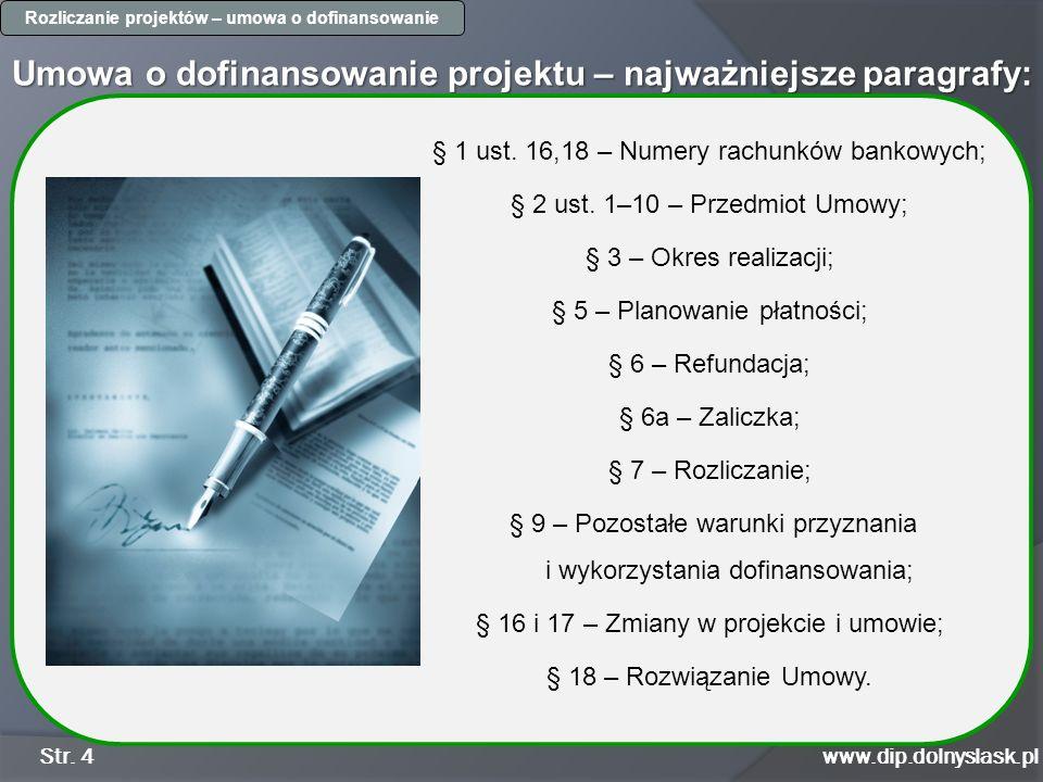 Umowa o dofinansowanie projektu – najważniejsze paragrafy: