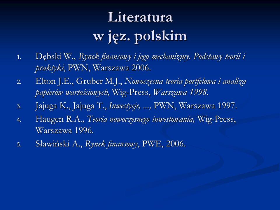 Literatura w jęz. polskim