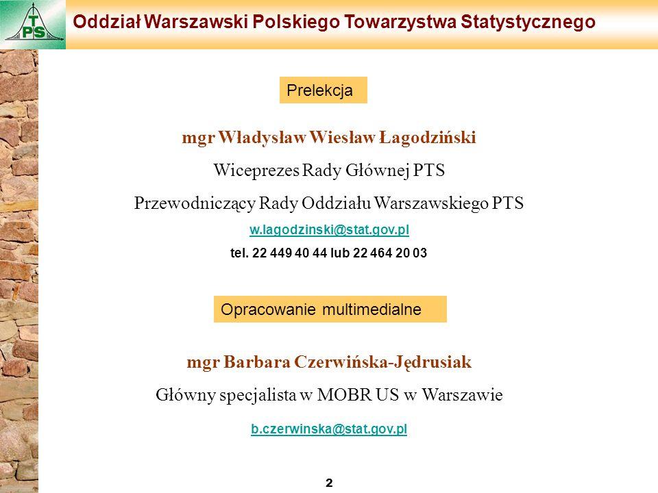 mgr Władysław Wiesław Łagodziński mgr Barbara Czerwińska-Jędrusiak