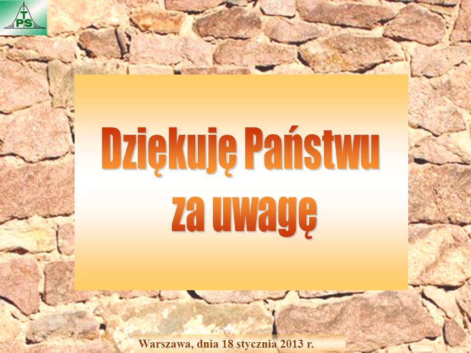 Dziękuję Państwu za uwagę Warszawa, dnia 18 stycznia 2013 r. 30