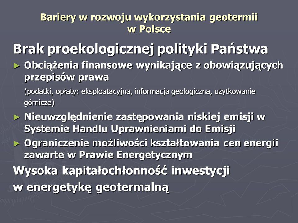 Bariery w rozwoju wykorzystania geotermii w Polsce