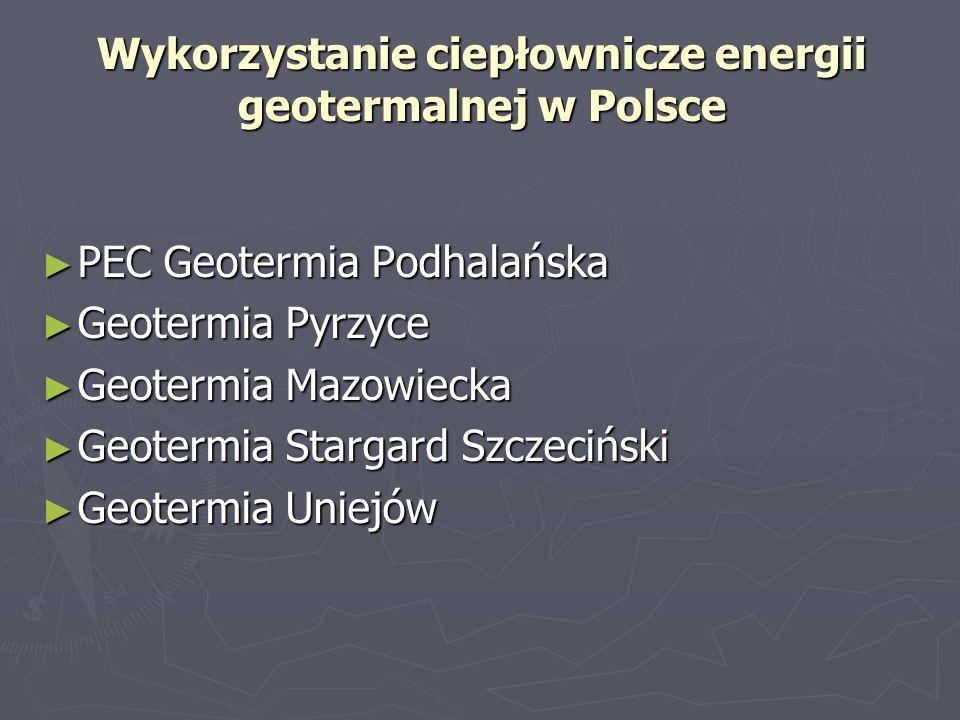 Wykorzystanie ciepłownicze energii geotermalnej w Polsce