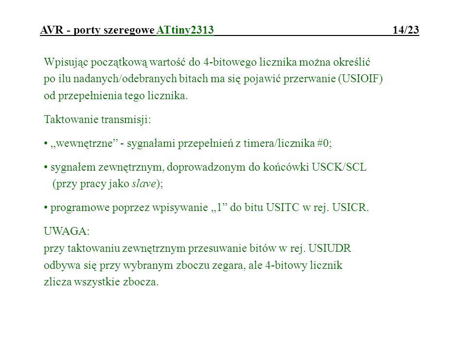 AVR - porty szeregowe ATtiny2313 14/23