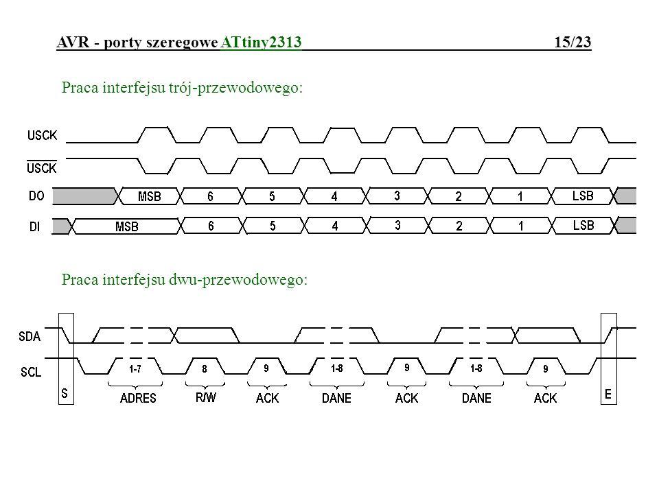 AVR - porty szeregowe ATtiny2313 15/23