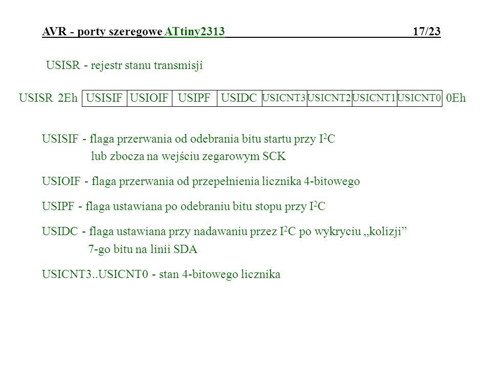 AVR - porty szeregowe ATtiny2313 17/23