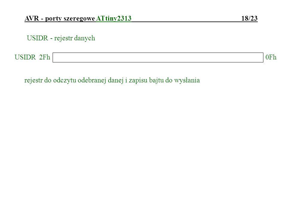 AVR - porty szeregowe ATtiny2313 18/23
