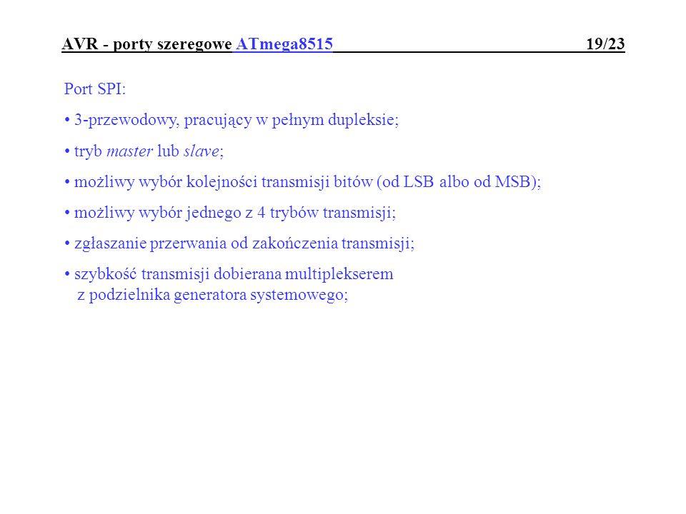 AVR - porty szeregowe ATmega8515 19/23