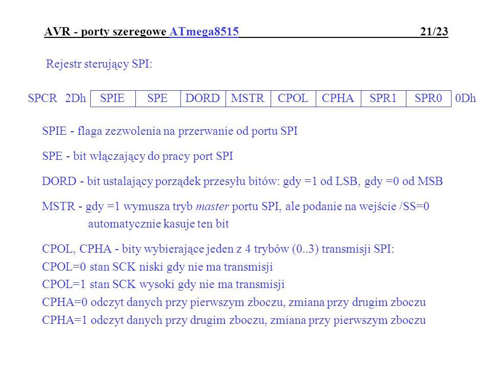 AVR - porty szeregowe ATmega8515 21/23
