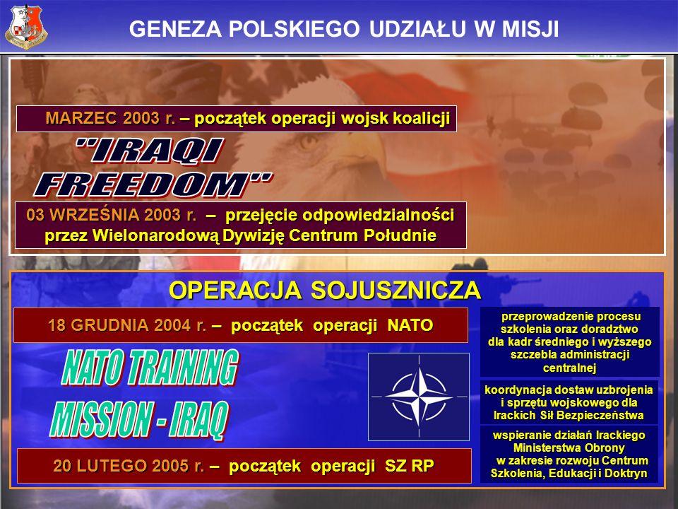 NATO TRAINING MISSION - IRAQ IRAQI FREEDOM OPERACJA SOJUSZNICZA
