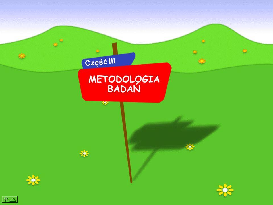 Część III METODOLOGIA BADAŃ