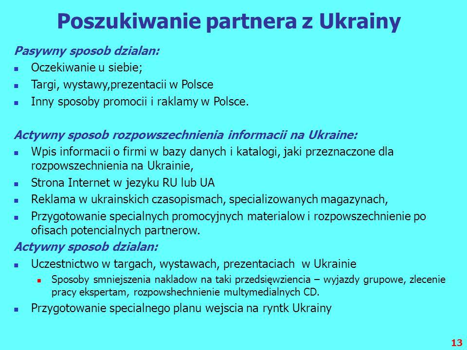 Poszukiwanie partnera z Ukrainy