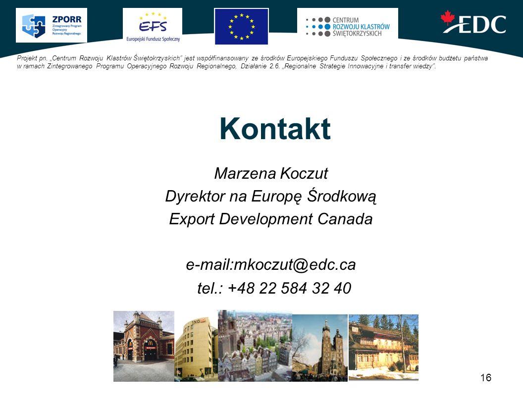 Kontakt Marzena Koczut Dyrektor na Europę Środkową