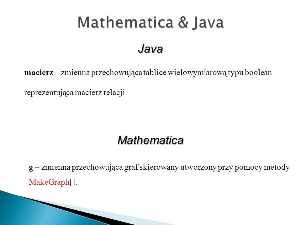 Mathematica & Java Java Mathematica
