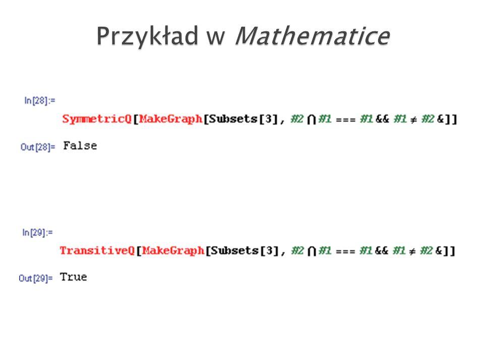 Przykład w Mathematice