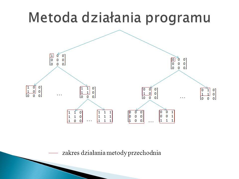 Metoda działania programu