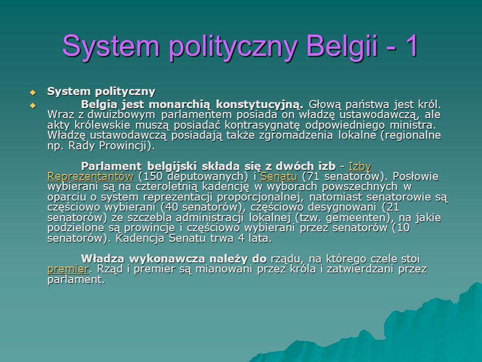 System polityczny Belgii - 1