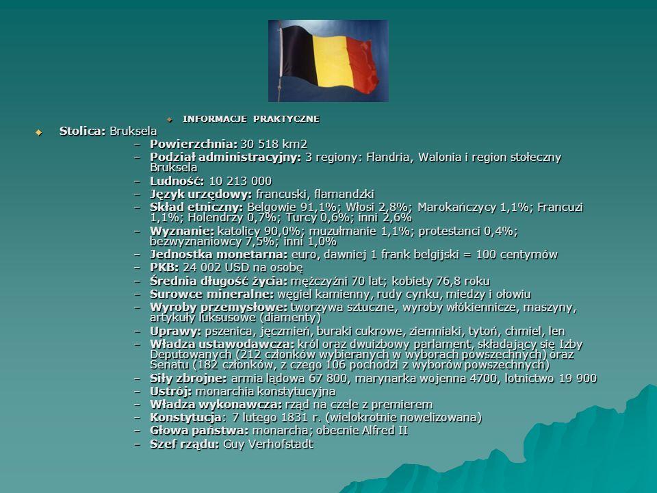 Język urzędowy: francuski, flamandzki