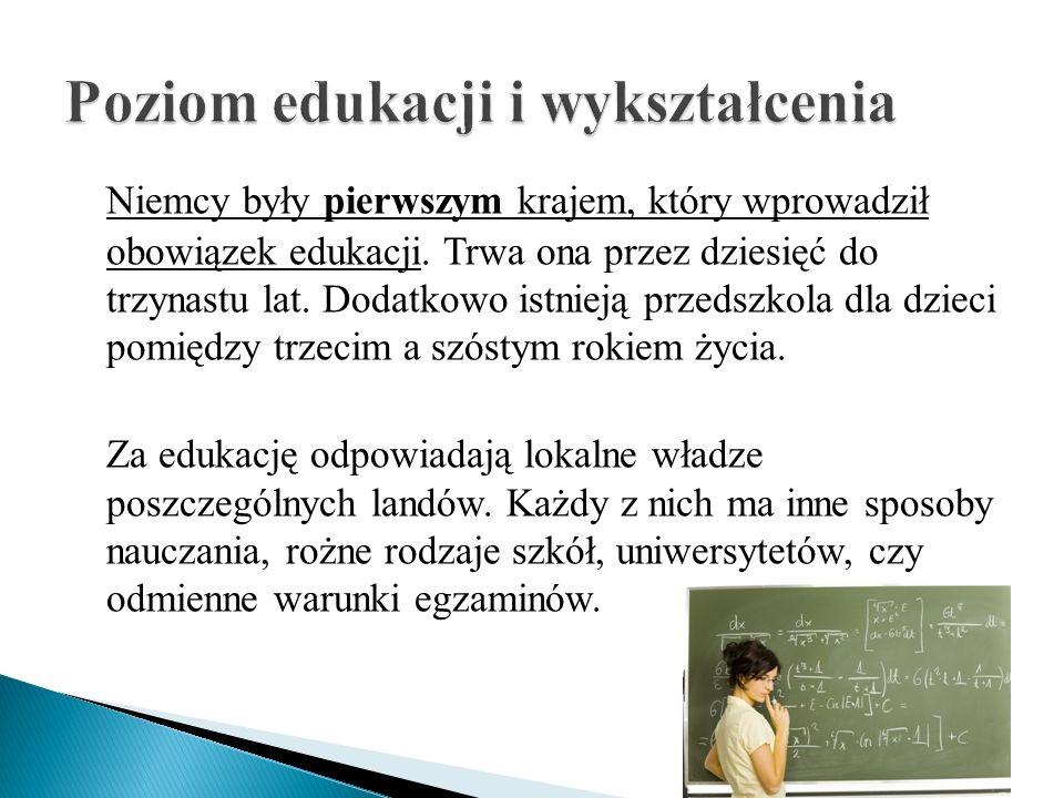 Poziom edukacji i wykształcenia