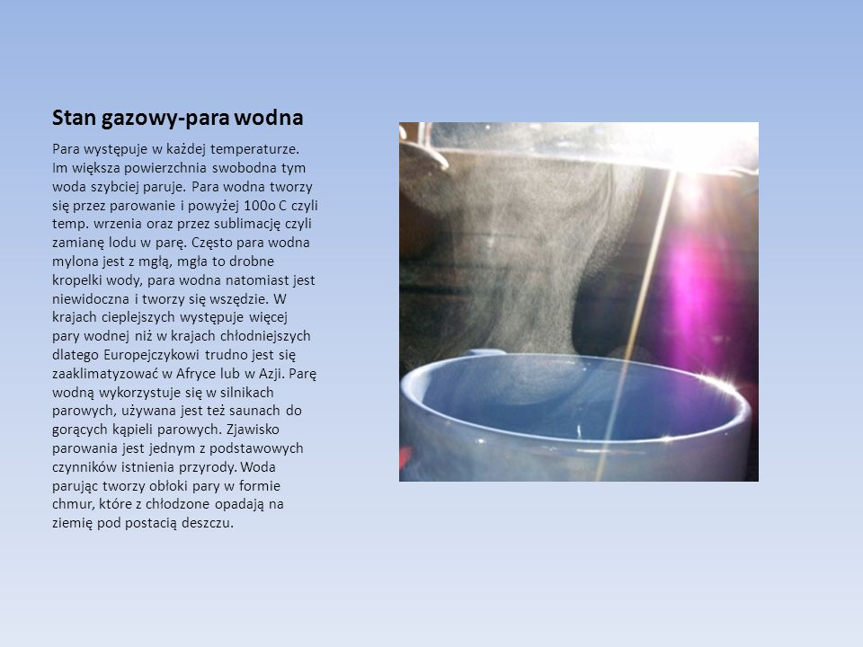 Stan gazowy-para wodna