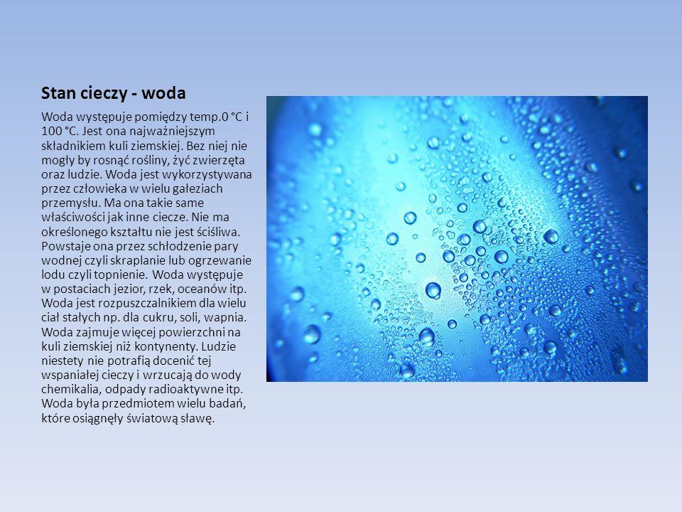 Stan cieczy - woda