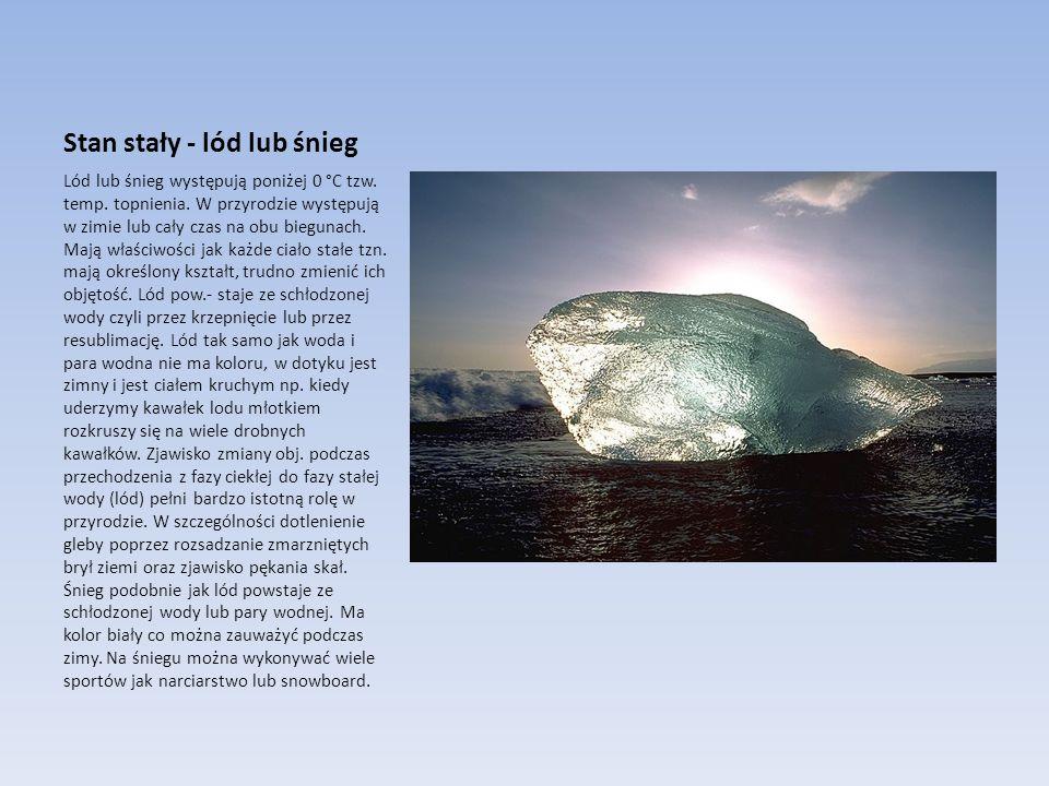 Stan stały - lód lub śnieg