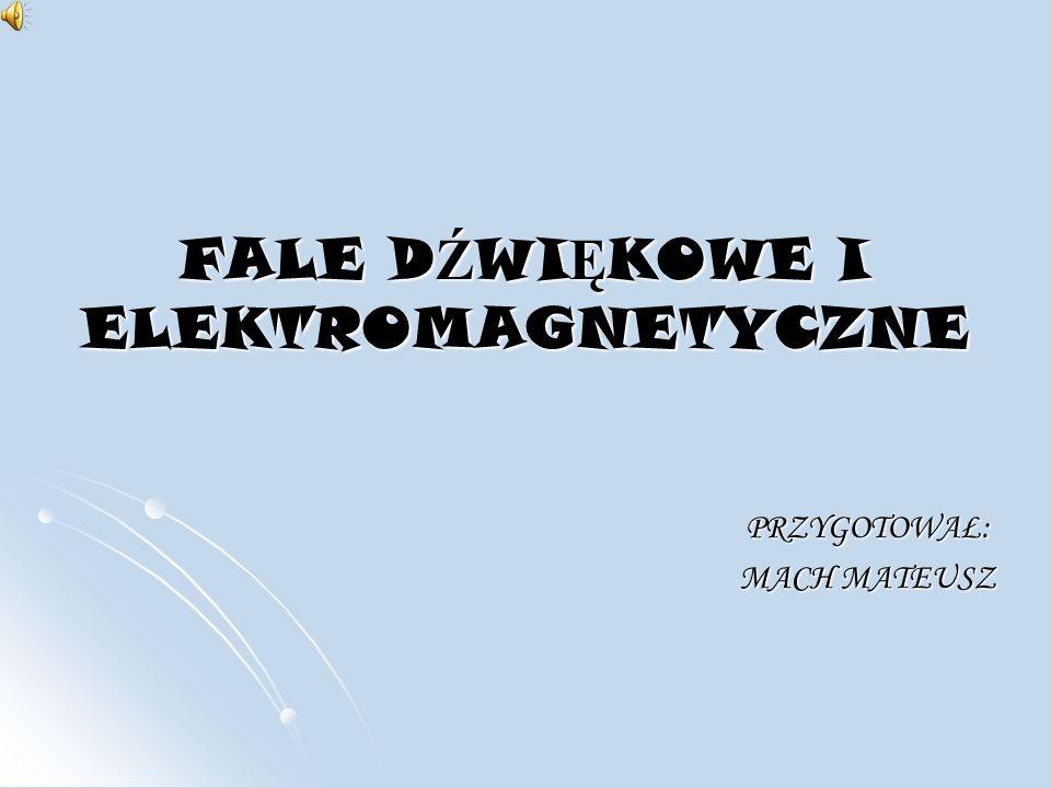 FALE DŹWIĘKOWE I ELEKTROMAGNETYCZNE