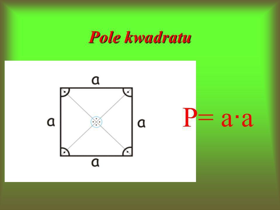 Pole kwadratu P= a∙a