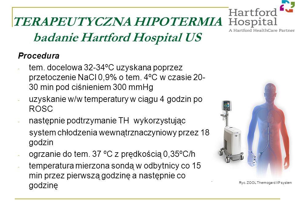 TERAPEUTYCZNA HIPOTERMIA badanie Hartford Hospital US