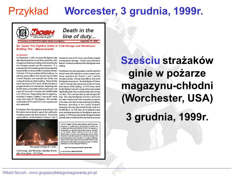 Sześciu strażaków ginie w pożarze magazynu-chłodni (Worchester, USA)