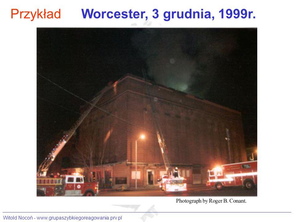 Przykład Worcester, 3 grudnia, 1999r.