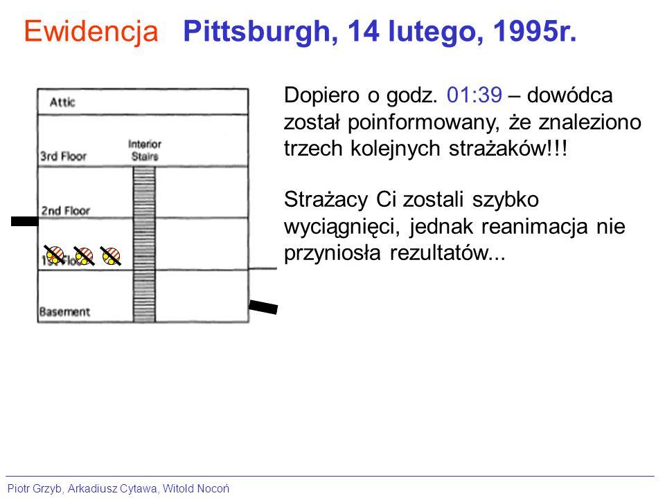 Ewidencja Pittsburgh, 14 lutego, 1995r.