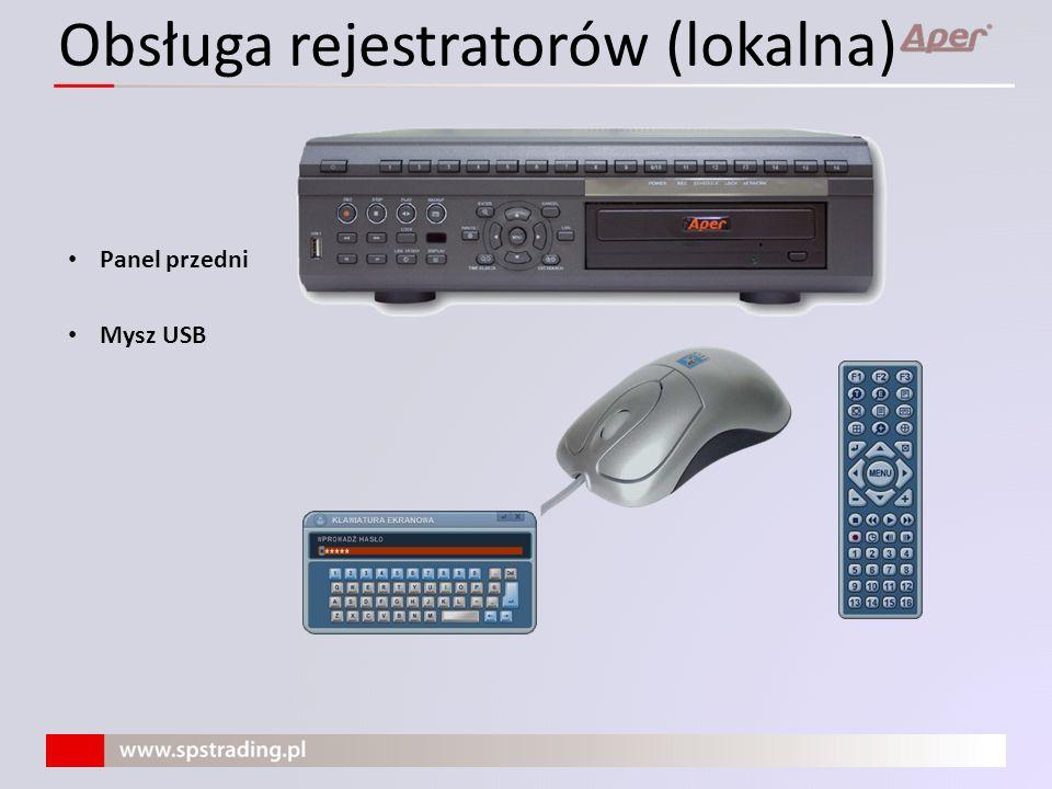 Obsługa rejestratorów (lokalna)