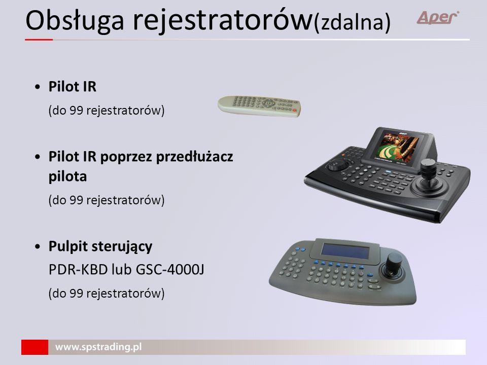 Obsługa rejestratorów(zdalna)
