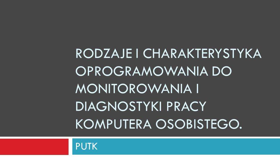 Rodzaje i charakterystyka oprogramowania do monitorowania i diagnostyki pracy komputera osobistego.