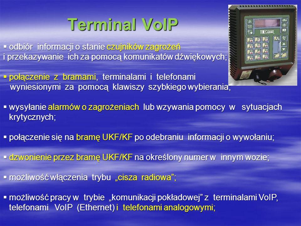 Terminal VoIP odbiór informacji o stanie czujników zagrożeń