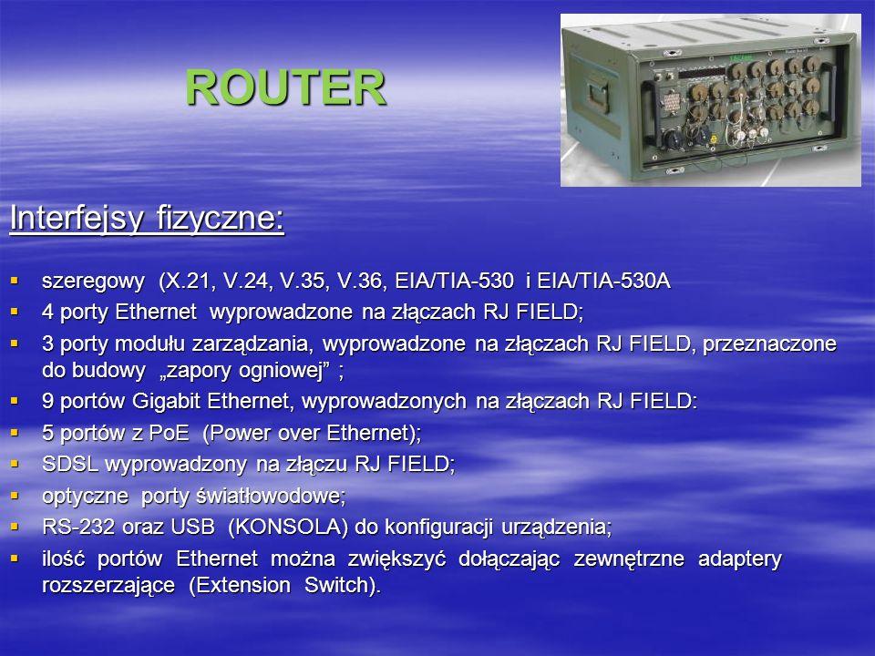 ROUTER Interfejsy fizyczne: