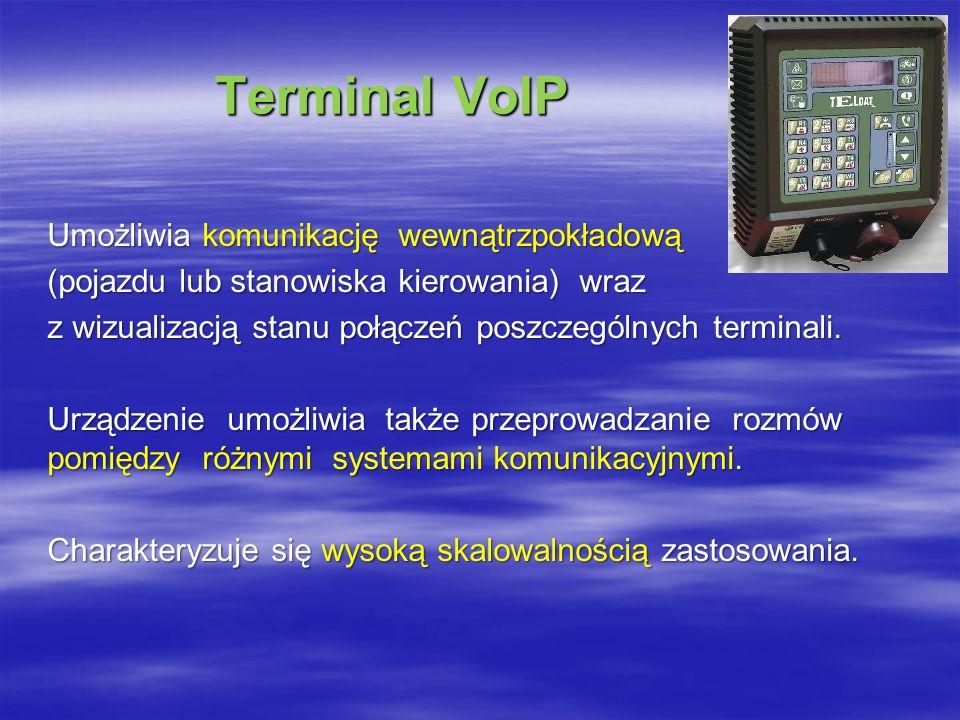 Terminal VoIP Umożliwia komunikację wewnątrzpokładową