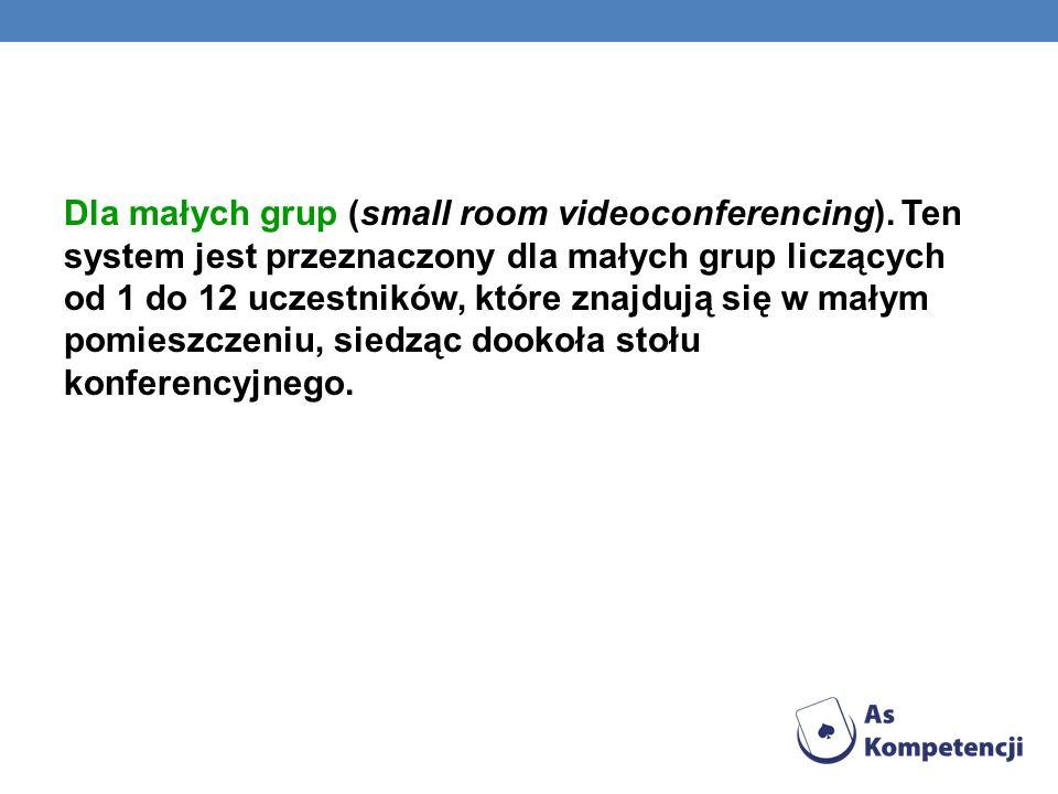 Dla małych grup (small room videoconferencing)