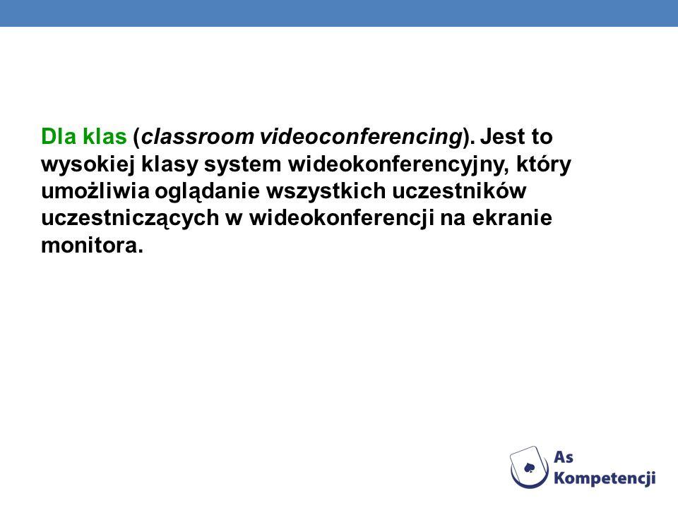 Dla klas (classroom videoconferencing)