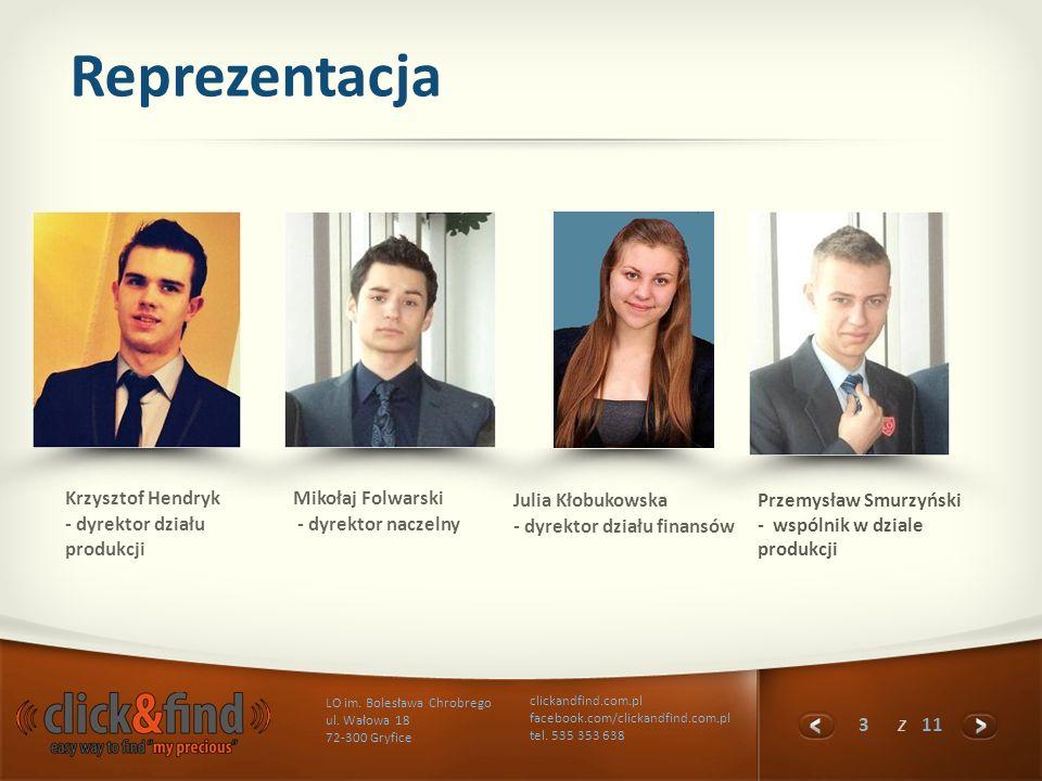Reprezentacja Krzysztof Hendryk - dyrektor działu produkcji