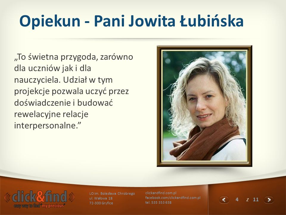 Opiekun - Pani Jowita Łubińska