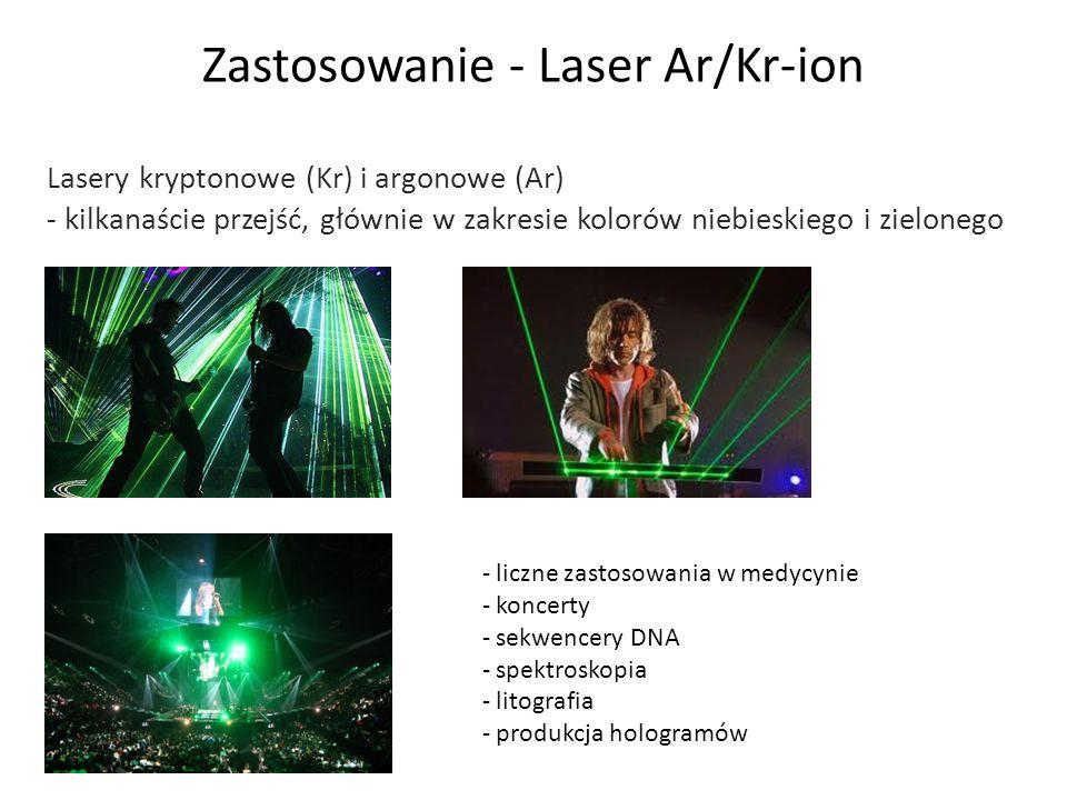 Zastosowanie - Laser Ar/Kr-ion