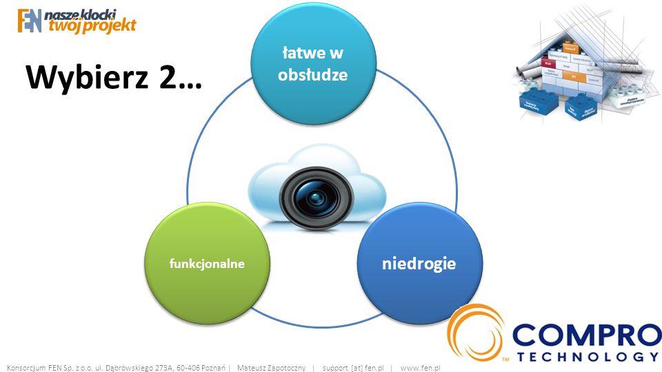Wybierz 2… łatwe w obsłudze niedrogie funkcjonalne