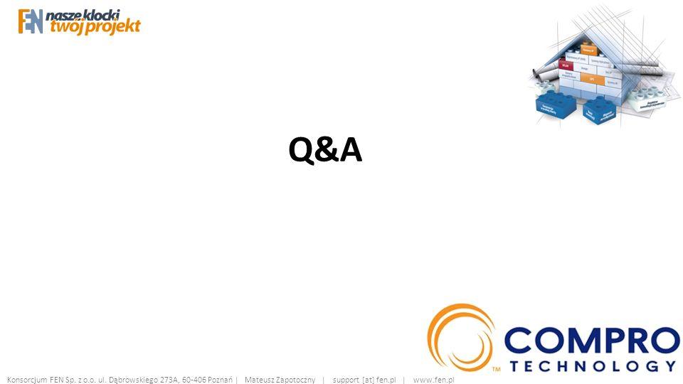 Q&A Konsorcjum FEN Sp. z o.o. ul.